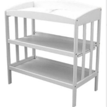 La Baby L.A. Baby 3 Shelf Wooden Changing Table - White