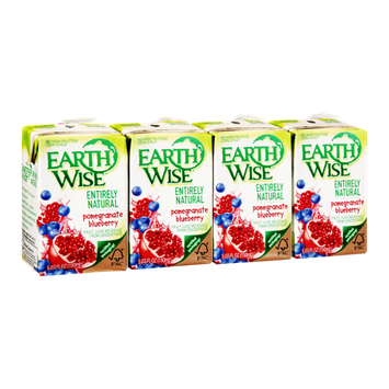 Earth Wise Entirely Natural Pomegranate Blueberry Fruit Juice - 4 PK