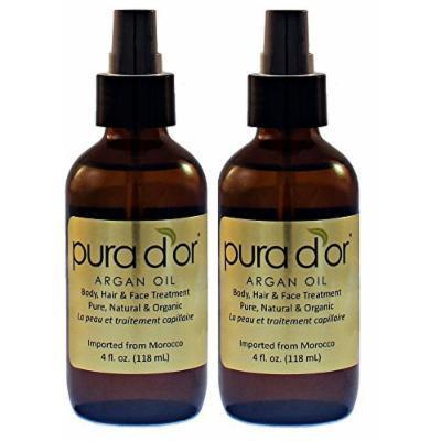 PURA D´OR Pure Argan Oil 4 oz (Set of 2)