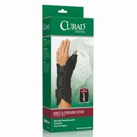 Curad Wrist & Forearm Splint with Abducted Thumb-Right, Large, Black, 1 ea