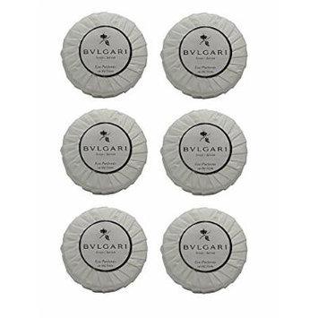 Bvlgari/Bulgari Au the Blanc (White Tea) Pleated Soaps - Set of 6, 50 gm soaps