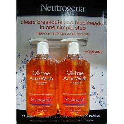Neutrogena Oil-Free Acne Wash, 9.1 Fluid Ounce, Pack of 2