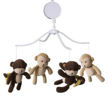 Bedtime Originals Tan, Brown and Green Curly Tails Musical Mobile