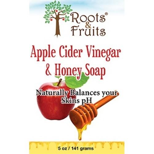 Roots Fruits Roots & Fruits - Apple Cider Vinegar & Honey Soap Naturally Balances Skin pH - 5 oz.