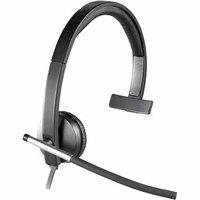 Logitech H650e USB Headset Mono - Flexible Microphone @ 100Hz-10KHZ, 50Hz-10kHz Speakers, LED Red-Light Indicator, Inlin