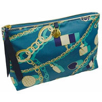 Estée Lauder BlueGreen Gold Cham Design MakeUp Cosmetic Bag