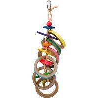 Super Bird Creations Olympic Rings Bird Toy, 17 L X 4 W