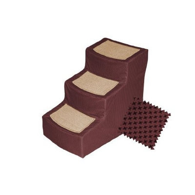 Pet Gear Burgundy Designer 3 Step Stair with Removable Cover
