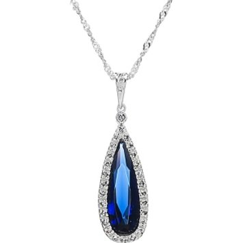 Emitations Bridal Necklace: Avana's Faux Pear Drop Necklace