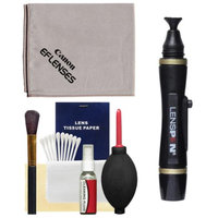 Canon Optical Digital Camera & Lens Cleaning Kit (Brush, Microfiber Cloth, Fluid & Tissue) with Blower + Lenspen