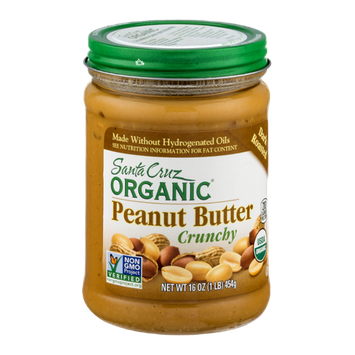 Santa Cruz Organic Crunchy Peanut Butter Dark Roasted