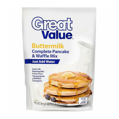 Great Value : Buttermilk Complete Pancake & Waffle Mix