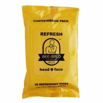 Bee Bald Refresh Multi Pack Wipes for Head & Face