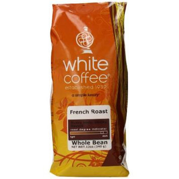 White Coffee Whole Bean Coffee, French Roast, 12 Ounce