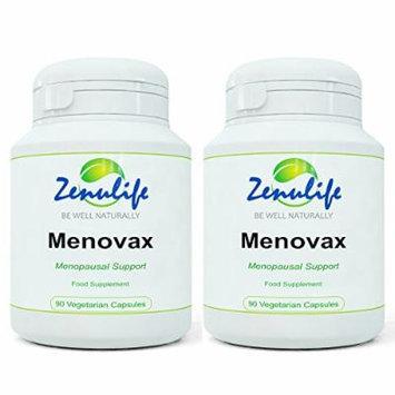 Menovax Natural Menopause Relief Supplements 60 Herbal Capsules - 2 Bottles