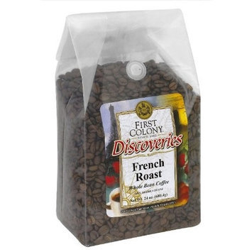 First Colony Whole Bean Coffee, French Roast, 24-Ounce