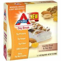 Atkins Day Break Bar Vanilla Fruit 5 Bars