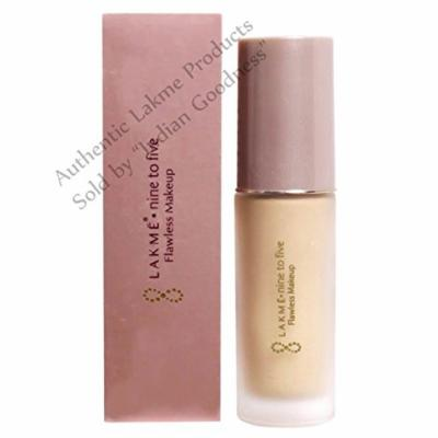 Lakme Nine to Five Flawless Makeup Foundation (Marble) + Free Gifts + Free Shipping