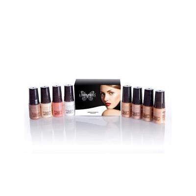 Luminess Air Brush Cosmetics Starter Kit - Medium - Ultra Foundations, Primer, Blush, Bronzer & Glow