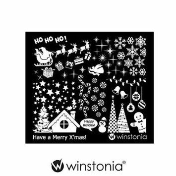 Winstonia Nail Art Stamping Image Plate - Have a Merry Christmas!