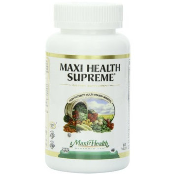 Maxi Health, Maxi Health Supreme, High Potency Multi Vitamin, Mineral, 60 Tablets