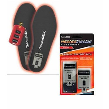 ThermaCELL Heated Insoles ProFLEX Large With Extra Battery Pack
