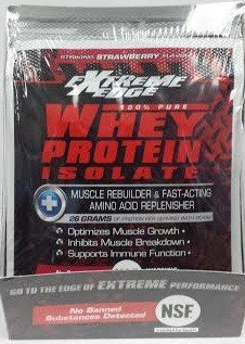 Extreme Edge Whey Protein Isolate - Strawberry Packets Bluebonnet 7 Packet