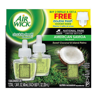 Air Wick American Samoa Sweet Coconut & Island Palms Double Fresh Scented Oil Refills
