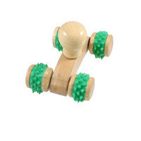 Wood Color Green Wooden Full Body Massage Stress Relief Massager Tool