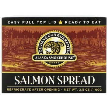 Alaska Smokehouse Salmon Spread Totem Design, 3.5 Ounce Boxes (Pack of 6)