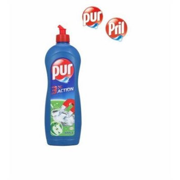 Pril/Pur Triple Action Power Gel by Henkel - Dishwashing Liquid for Dishes & Appliances - Apple - 7.2 Litres/243.4oz (8 x 900ml)