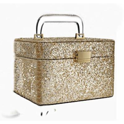 Victoria's Secret Limited Edition Gold Glitter Makeup Train Case