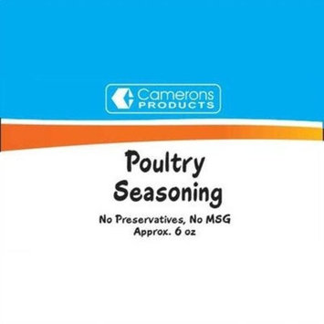 Camerons Poultry Seasoning (7.5 Oz Gross, 6.2 Oz Net)