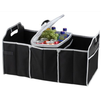 Tv Direct Llc (Set/2) Collapsible Trunk Organizer Caddies With Removable Insulated Coolers
