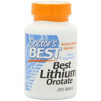 Doctor's Best Best Lithium Orotate (5mg), 200-Count