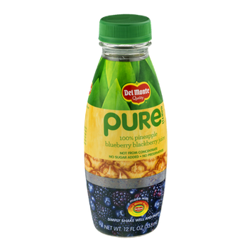 Del Monte® Pure Earth 100% Pineapple Blueberry Blackberry Juice