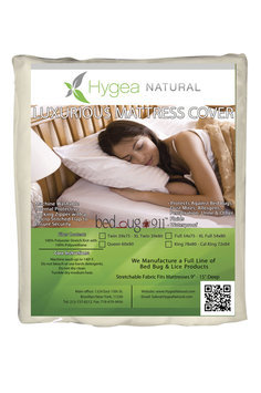 Bed Bug 911 Hygea Mattress Cover Dust Mites and Allergen Waterproof Stretchable XL-Full HYB-1007