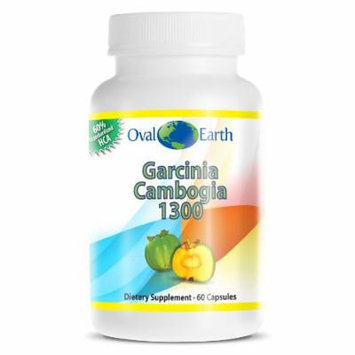 Oval Earth - Garcinia Cambogia Extract 1300 - The Best Quality Garcinia Cambogia Extract - 100% Pure Garcinia - 60% Standardized HCA - 1,000 Mg Per Serving - 60 Capsules - Seen on Dr. Oz