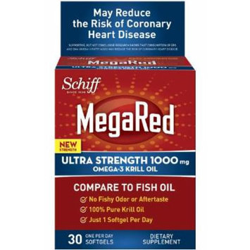 Megared Ultra Strength Omega-3 Krill Oil, 1000 mg, 30 Count (pack of 2)