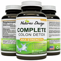 Colon Detox & Weight loss Benefits with Digestive Enzymes - Pure, Plant & Herbs Sourced Formula - Toxins & Waste Cleanse - Optimizes Nutrient Uptake and Stomach Relief - Pills Work Fast with Low Carb Diets - USA Made By Natures Design