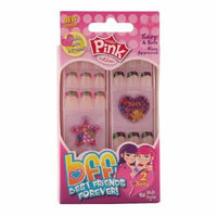 Pink by Kiss BFF Best Friends Forever Sticker Nails, Sincerity 1 set