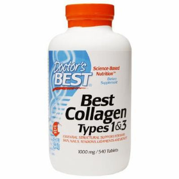 Doctor's Best Best Collagen Types 1&3 1000mg, Tablets 540 ea