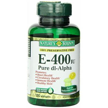 Nature's Bounty Vitamin E 400IU, 120 Softgels (Pack of 6)