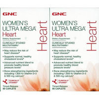 GNC Women's Ultra Mega Heart Multivitamin --2 Bottles each of 90 Caplets