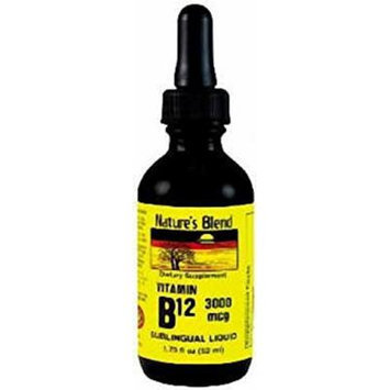 Vitamin B-12 3000mcg Sublingual Drops, Raspberry Flavor 1.75 OZ (PACK OF 2)