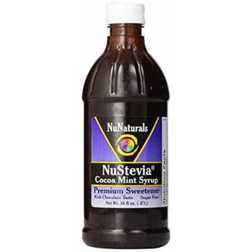 NuNaturals NuStevia Cocoa Mint Stevia Chocolate Syrup With Fresh Mint Made From Oregon-Grown Peppermint, 16 Fluid Ounce