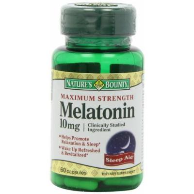 Nature's Bounty Maximum Strength Melatonin 10mg Capsules, 60 CT (PACK OF 2)