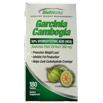 DietWorks Healthy Weight Management 180 CT Garcinia Cambogia Dietary Supplement