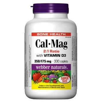 Webber Naturals Cal•Mag 2:1 Ratio with Vitamin D 350/175 mg · 100 IU, 300 Caplets