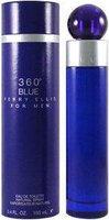 Perry Ellis 360 Blue 3.4 oz EDT Spray (Tester)